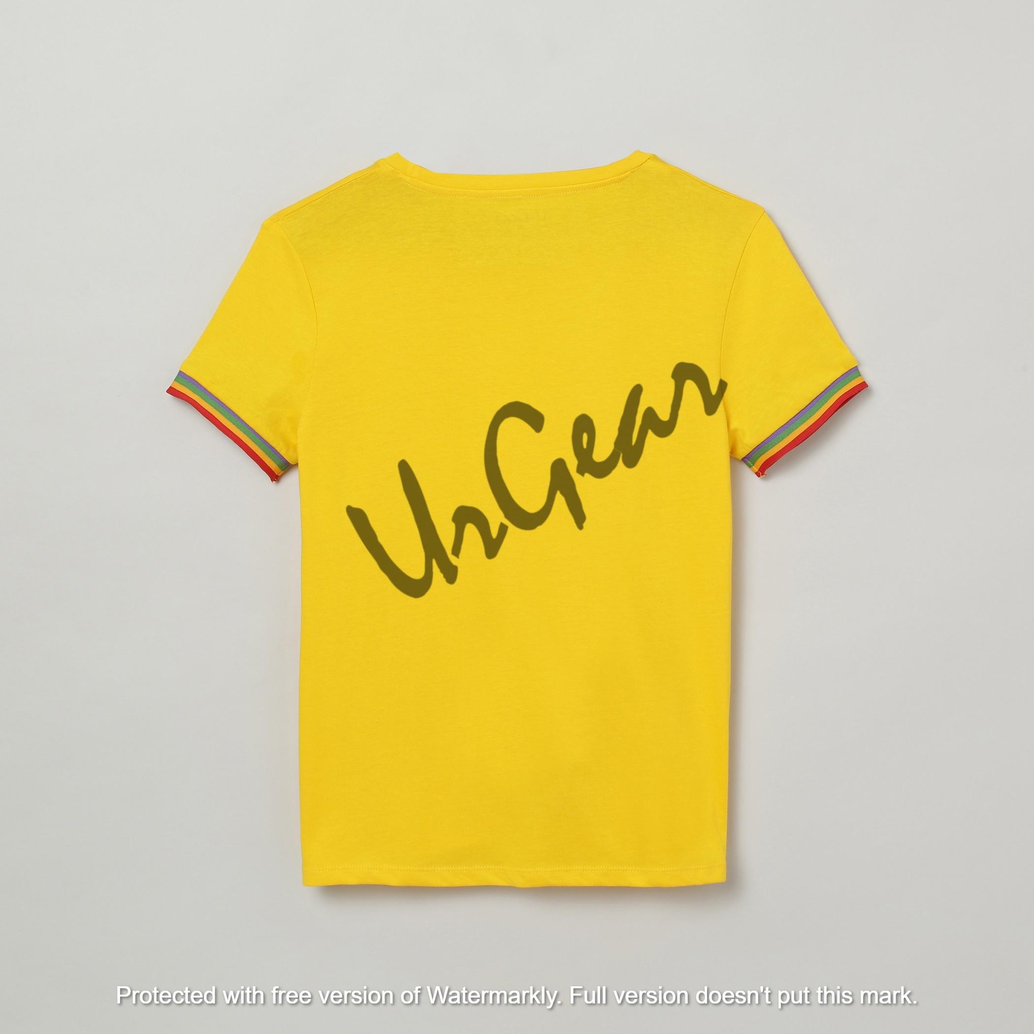 UrGear Girls Solid Cotton Blend T-Shirt