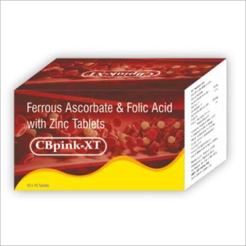 Ferrous Ascorbate And Folic Acid With Zinc Tablets
