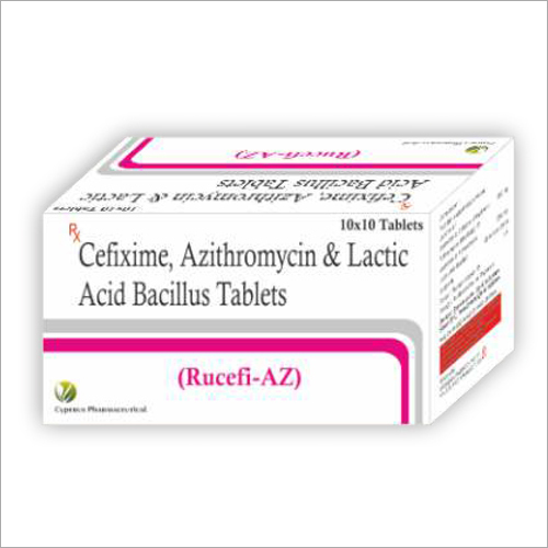 Cefixime With Azithromycin And Lactic Acid Bacillus Tablets