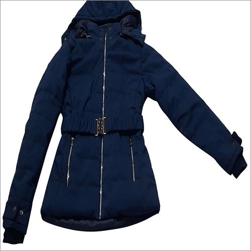 Ladies Full Sleeve Jacket With Belt And Hood