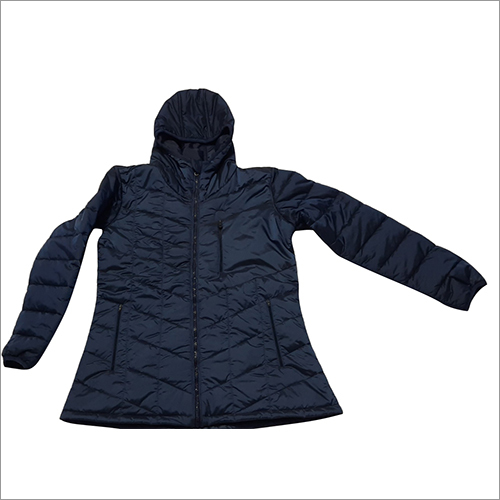 Ladies Plain Full Sleeve Puffer Jacket