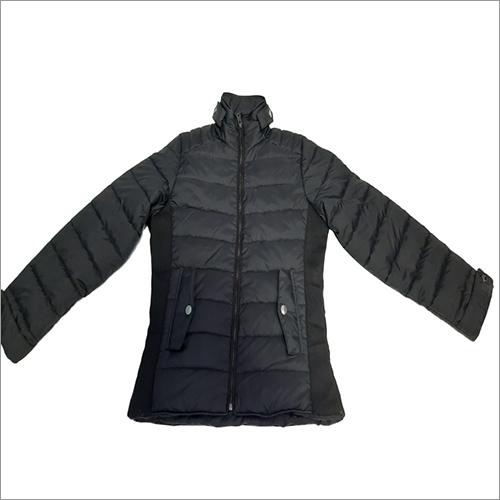 Ladies Full Sleeve Jacket With Dual Fabric