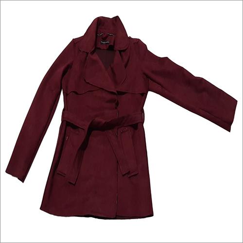 Ladies Plain Full Sleeve Overcoat