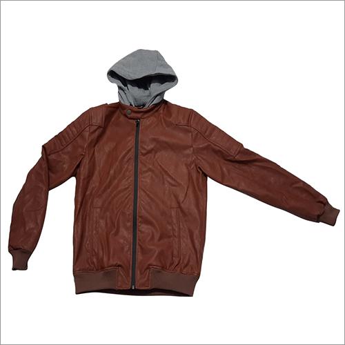 Mens Full Sleeve Dark Brown Leather Jacket