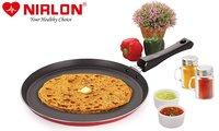 Nirlon Special Non-stick Aluminium Flat Tawa, Red (26cm)