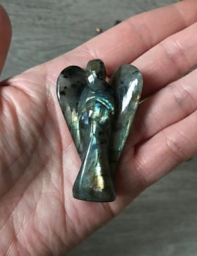 labradorite crystal angel