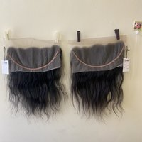Single Donor Hd Lace Frontal Closure 13x4 4x4 10a 11a Grade Raw Indian Wave Human Hair