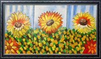 Flower Theme Canvas Painting