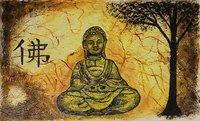 Handmade Buddha Canvas Painting