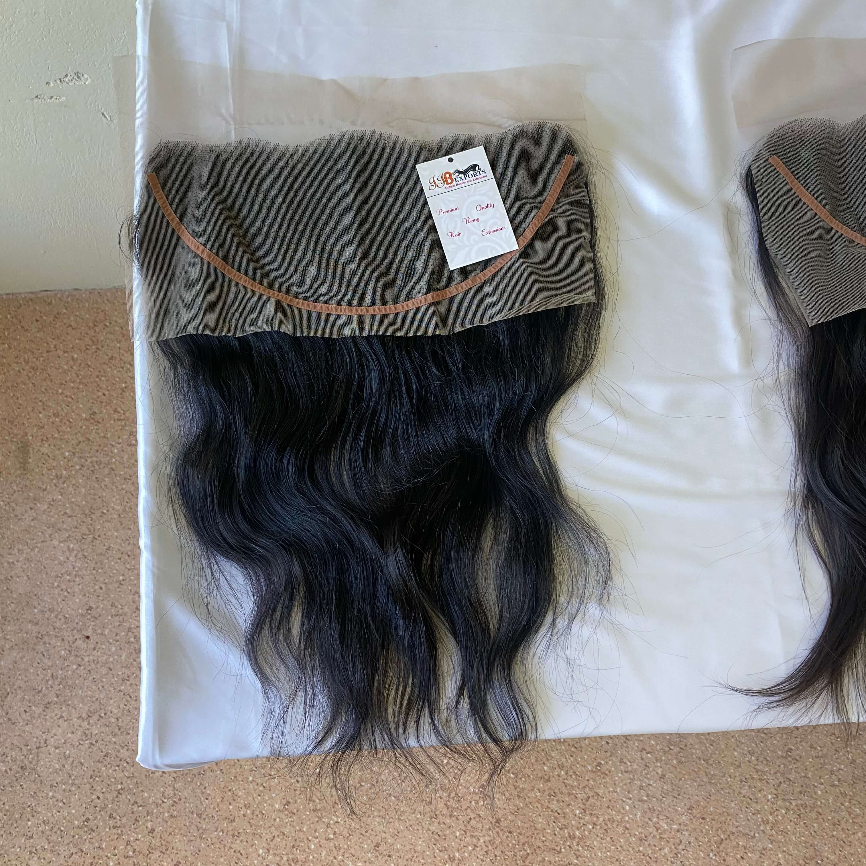 Hd Thin Lace Closure 4x4 Lace Frontal 13x4 Natural Virgin Indian Human Hair With Bundle