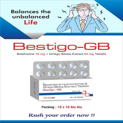 Betahistine 16mg+Ginkgon Biloba Extract 60mg