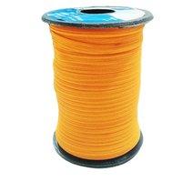 6 Mm Flat Braided Shoe Elastic  Ss 218 Orange