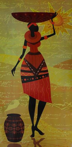 Madubani Style Poster Painting