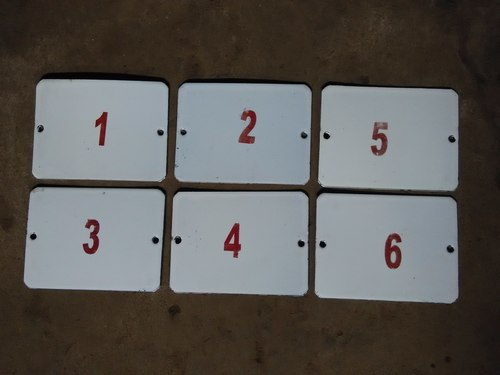 Electrical Pole Number Plates