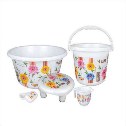 Printed Plastic Bath Set