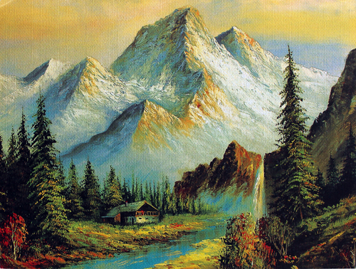 Mountain/Hill Poster Painting