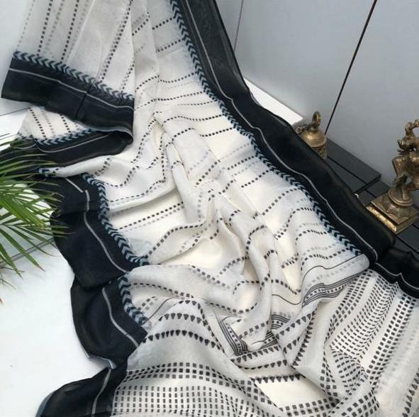 Linen sarees