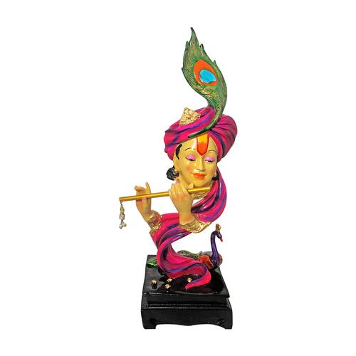 Polyresin Mor Pankhi Krishna Statue