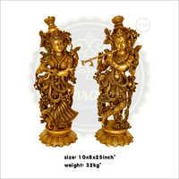 Brass Radha Krishna Statues
