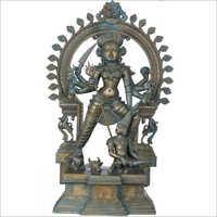 Brass Mahishasura Mardini Goddess Durga Statue