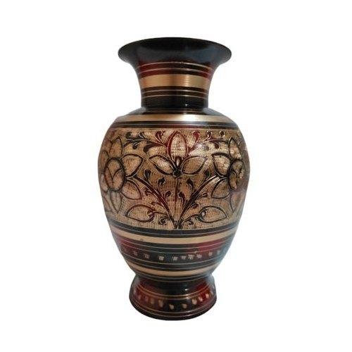 Bidri Brass Flower Vase