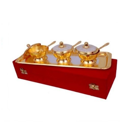 Gold Plated Brass Mouth Freshener Set