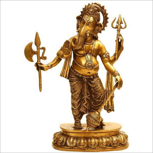 Ashtadhatu God Ganesh Murti