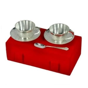 100ml Silver Plated Cup And Saucer Set