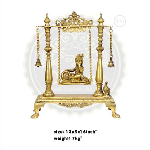 Brass krishna on jhula