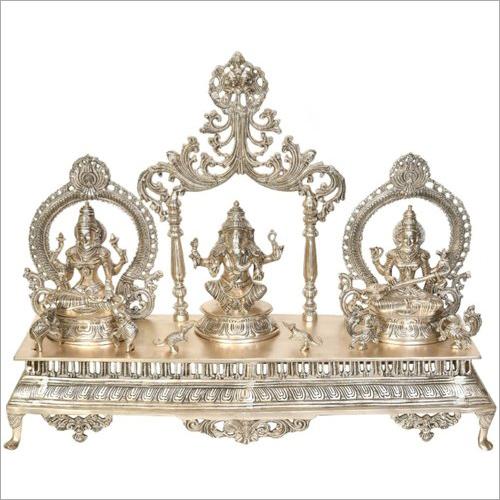 Brass Laxmi Ganesh Saraswati Set