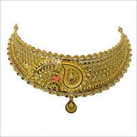 Ladies Gold Bridal Necklace