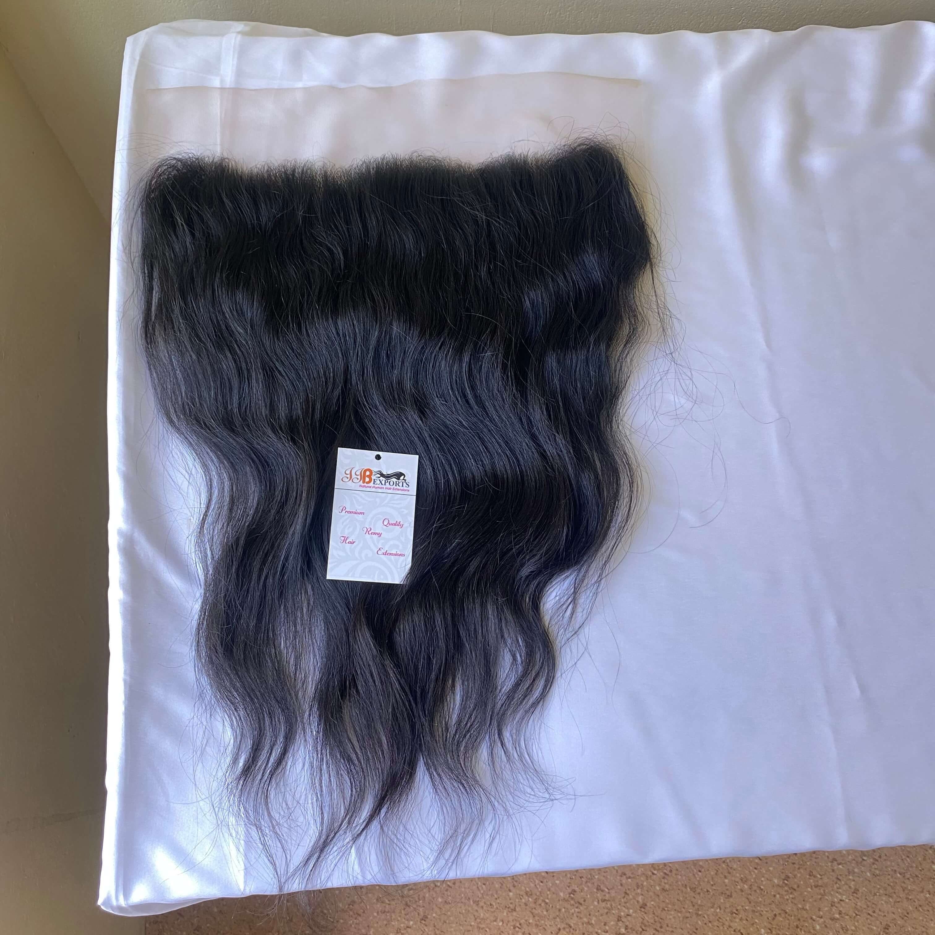 Top Quality 100% Unprocessed Virgin Brazilian/indian Wave Cuticle Aligned Lace Frontal Hair Extensions