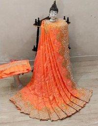 ston work sarees