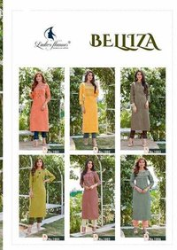 Belliza By Ladies Flavour Cotton Kurti With Pant Catalogue