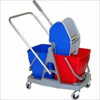 50 L Double Bucket Mop Wringer Trolley