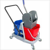34 Liter Double Bucket Wringer Trolley