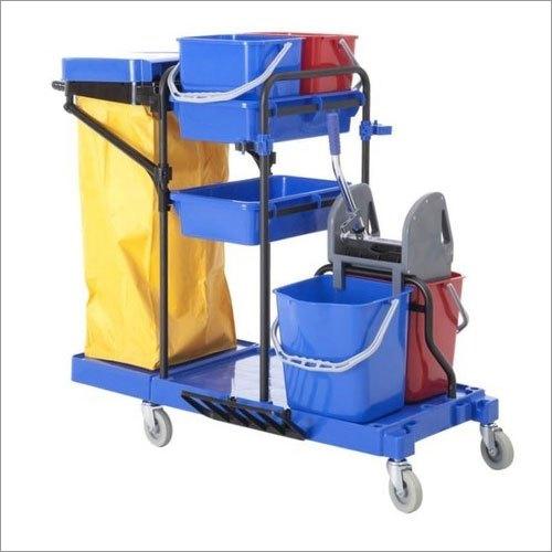Plastic Multifunction Janitor Cart Trolley