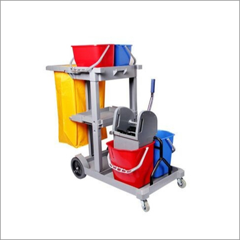 ABS Plastic Multifunction Janitor Cart Trolley