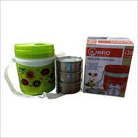 Insulated Plastic Lunch Box With Steel Container