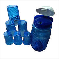 Plastic Jug And Glass Set