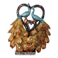 Polyresin Beautiful Peacock Sculpture