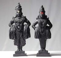 Vittal Rukmani Marble Statue