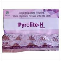 Acetylcysteine Vitamin A Vitamin E Vitamin C Zinc Oxide Folic Acid Tablets