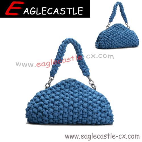 Design custom ladies fancy messenger hand woven bags wholesale