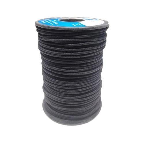 2.5 Mm Round Braided Elastic Ss-f39 Ht Black