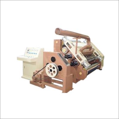 Fingerless Oblique Type Single Face Paper Corrugating Machine Pneumatic Model