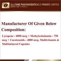 Lycopene-6000 MCG  Methylcobalamin-750 MCG Carotenoids-4800 MCG Multivitamin Multimineral And Capsules