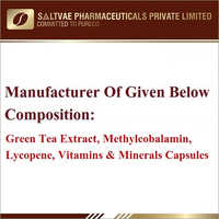 Green Tea Extract Methylcobalamin Lycopene Vitamins And Minerals Capsules