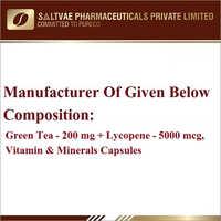 Green Tea-200 MG Lycopene-5000 MCG Vitamin And Minerals Capsules