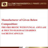Pre-Pro Biotic With Fungal Amylase And Fructo Oligosaccharides Sachets-Capsules